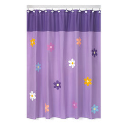Sweet Jojo Designs - Sweet Jojo Designs Danielle's Daisies Kids Shower Curtain - Add a touch of style and a splash of color to your bathroom with this designer shower curtain. Pair with coordinating Sweet JoJo Designs room accessories to complete the look and feel of your favorite theme.