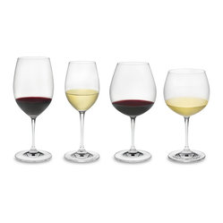 Riedel - Riedel Vinum Tasting Set of 4 Glassses - Your growing wine collection is bound to become the toast of the town. This set of lead crystal wineglasses — for your prize reds and whites —  make it easy to host a tasting in style.