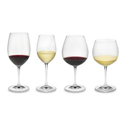 Riedel - Riedel Vinum Tasting Glasses, Set of 4 - Your growing wine collection is bound to become the toast of the town. This set of lead crystal wineglasses — for your prize reds and whites —  make it easy to host a tasting in style.