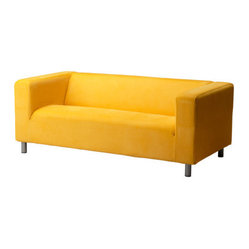 Klippan Custom Love Seat, Leaby Yellow