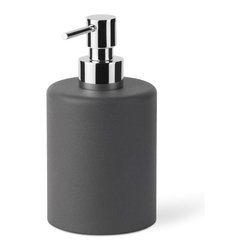 WS Bath Collections - Saon Liquid Soap Dispenser - Saon by WS Bath Collections, Liquid Soap Dispenser in Painted Aluminum, Available in White, Red, Brown, Orange, Pink, Dark Drey, Blue or Stainless Steel, Made in Italy