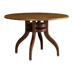 """Hooker Furniture - Hooker Furniture Palisade 48in. Round Dining Table - If you embrace modern style but still revere traditional design, and if you seek a contemporary flair but appreciate classic beauty, then the Palisade collection offers you the best of both worlds. Hardwood solids with walnut and sycamore maple veneers. Dimensions: 48""""W x 48""""D x 30""""H."""
