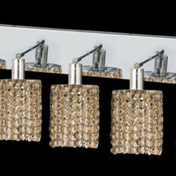 Elegant Lighting - Mini Round Chrome Five-Light Bath Fixture with Royal Cut Golden Teak Smoky Cryst - Royal Cut crystal is a combination of high quality lead free machine cut and machine polished crystals and full-lead machined-cut crystals to meet a desirable showmanship of an authentic crystal light fixture.  -Recommended to be professionally hung and supported independently of the outlet box. Consult an electrician for guidance to determine the correct hanging procedure.  -Crystals may ship separately and some assembly is required.  -Depending on the size & design the assembly can be time consuming, but is well worth the effort. Elegant Lighting - 1285W-O-R-GT/RC