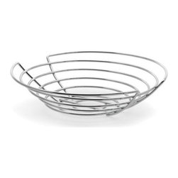 """Blomus - Wires Fruit Basket - The Wires Fruit Basket is a necessity for any kitchen. Whether storing fruits and vegetables or any house-hold clutter this basket is stylish and durable. This basket is great for storage and display. Features: -Steel wire, chrome plated -Overall Dimensions: 12 - 14"""" Diameter"""