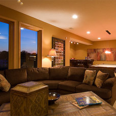 Traditional Basement by Michael Lee, Inc