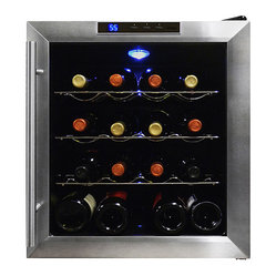 Vinotemp - Vinotemp 16-Bottle Thermoelectric Wine Cooler - Your fridge is for food — but your great wines deserve this high-tech cooler. You'll enjoy having 16 bottles on hand, chilled to perfection with no unnecessary vibration to disturb your valuable vintages.