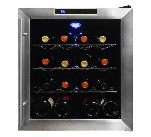 Vinotemp - Vinotemp 16 Bottle Thermoelectric Wine Cooler - Your fridge is for food — but your great wines deserve this high-tech cooler. You'll enjoy having 16 bottles on hand, chilled to perfection with no unnecessary vibration to disturb your valuable vintages.