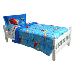 Store51 LLC - Disney Planes Twin Bedding Dusty On Mark Bed Set - Features: