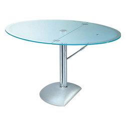 Boheme Bacher - Round or oval dining table with foldable table top.