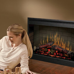 "Dimplex - Dimplex 26-Inch Plug-in Electrical Fireplace - DF2608 - The Dimplex 26"" Plug-In Electric Fireplace includes patented technology for the most realistic flame available on the market today. Logs and embers glow and pulsate, adjustable by a remote control"