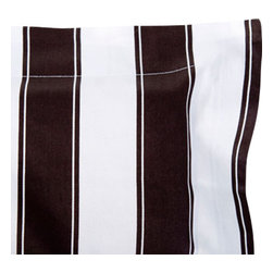 Sin in Linen - Black and White Stripe Pillow Sham - This classic black and white stripe bedding is a great bedroom focal piece with its large graphic stripes. Includes 1 sham.
