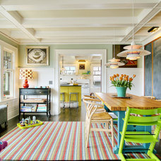 Eclectic Dining Room by J.A.S. Design-Build