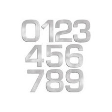 Contemporary House Numbers Blomus Stainless Steel 6 Inch House Numbers