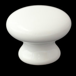 GlideRite Hardware - GlideRite Round White Ceramic Mushroom Cabinet or Dresser Knobs - Add a stylish look to your cabinets with this ceramic cabinet knob.  Each knob is individually packaged to prevent damage to the finish. Standard installation screws are included.