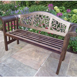 Oakland Living Ornamental Royal Curved Back Bench
