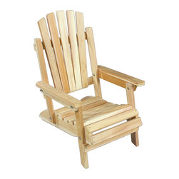 Rustic Natural Cedar - Rustic Natural Cedar 040404J Adirondack Jr. Chair - The junior chair accommodates families with kids wanting their own space. This little tike s version has all the features of our standard adult-sized chair only on a smaller scale. Like all of our cedar products, the junior chair is built to last, and can be painted, stained, or left to weather gracefully to a warm silver gray. And, the sturdy cedar construction ensures years of carefree use. Adirondack Junior Chair (Folds for storage)