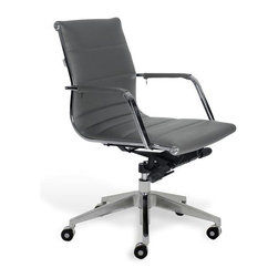 Jesper Office Furniture - Sofia Low-Back Office Chair -Grey - Features: