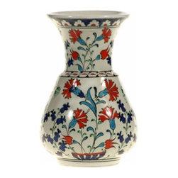 """Classical Iznik 6"""" Ceramic Vase, Design A - Classical Iznik Ceramic Vase"""