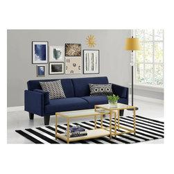 DHP Metro Navy Blue Futon Sofa Bed -