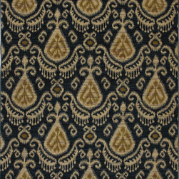 """Karastan - Karastan Crossroads 38260-15116 (Nanai Indigo) 2'5"""" x 12' Rug - Shades of classic red, warm honey, indigo and black are featured in this Studio by Karastan(r) collection. Accents of dove gray, terra cotta, sage and ivory highlight the tribal Suzani's, classic Persian panels, timeless Sarouk's, transitional florals and modern ikats that make up this collection. Made of New Zealand woven wool, the Crossroads collection offers a wide variety of decorating possibilities in plush, durable constructions that will meet the demands of today's active lifestyles."""