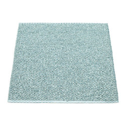 Pappelina - Pappelina SVEA Area Rug Metallic Shine, Azur Blue/Turquoise - This  rug from Pappelina, Sweden, uses PVC-plastic and polyester-warp to give it ultimate durability and clean-ability. Great for decks, bathrooms, kitchens and kid's rooms.