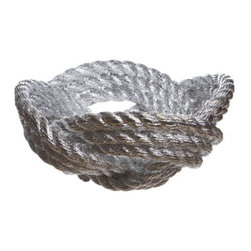 Areaware - Knotted Rope Bowl by Areaware - The Areaware Harry Allen Knotted Rope Bowl builds on Allen's repertoire of cast resin and marble bowls that look like other kinds of unexpected, realistic-looking materials. Here, a thick fibrous rope is coiled and knotted into a big, beautiful bowl. Available in a natural matte White or gleaming Chrome. Areaware reinvents the everyday object with a more eccentric and absurdist twist, driven by a fascination about forward thinking technologies and original expression. A New York-based company, Areaware is dedicated to creating not just useful design accessories, but poetic objects that inspire an emotional response.
