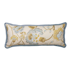"""Mystic Valley - Mystic Valley Traders Cottonwood - Large Boudoir Pillow - The Cottonwood large boudoir pillow is fashioned from the Cumberland fabric on each side, and finished with a Colony flower flange; 12""""x30""""."""