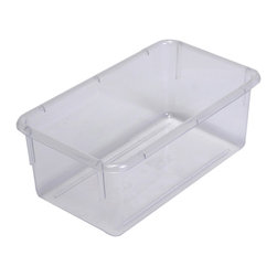 "Steffywood - Steffywood Home Plastic Storage Box Cabinet Clear Tote Tray 13""L X 8""W X 5""H - Plastic, durable tote trays measure 5""H X 8""W X 13""L and fit our 15"" deep storage cabinets. All edges are rounded and smooth. GreenGuard certified.Fits our 15""cabinets. GreenGuard certified. All edges rounded and smooth."
