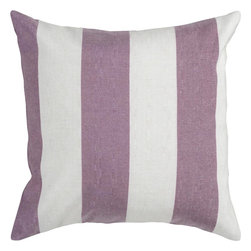 "Surya - Surya JS-010 Striking Stripe Pillow, 22"" x 22"", Down Feather Filler - This Surya JS-010 Striking Stripe Pillow would make a great addition to a couch or bed."