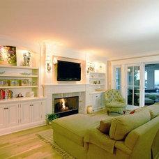Traditional Living Room by Monetti Custom Homes