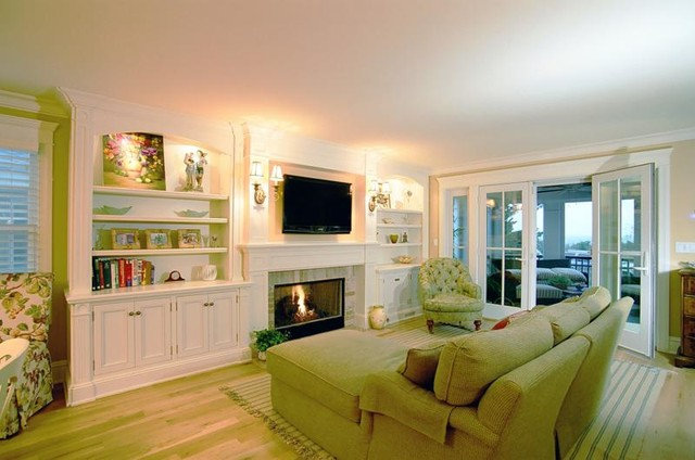 Traditional Living Room by Monetti Custom Homes