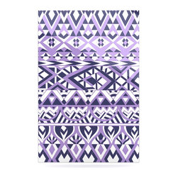 """Kess InHouse - Pom Graphic Design """"Tribal Simplicity II"""" Purple White Metal Luxe Panel (24"""" x 3 - Our luxe KESS InHouse art panels are the perfect addition to your super fab living room, dining room, bedroom or bathroom. Heck, we have customers that have them in their sunrooms. These items are the art equivalent to flat screens. They offer a bright splash of color in a sleek and elegant way. They are available in square and rectangle sizes. Comes with a shadow mount for an even sleeker finish. By infusing the dyes of the artwork directly onto specially coated metal panels, the artwork is extremely durable and will showcase the exceptional detail. Use them together to make large art installations or showcase them individually. Our KESS InHouse Art Panels will jump off your walls. We can't wait to see what our interior design savvy clients will come up with next."""