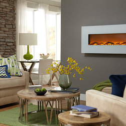 Ivory Electric Wall-Mounted Fireplace - The Ivory™