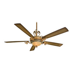 """Minka Aire - Minka Aire F715-TSP Napoli II Tuscan Patina 68"""" Ceiling Fan with Wall Control - Features:"""