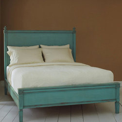 Swedish Bed, Robin's Egg Blue - This charming bed adds a healthy dose of lovely color and a Scandinavian simplicity that is calming. It's great for bedtime! Also available in black or white.
