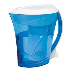Zero Technologies - Clear Pitcher 8 Cup - ZeroWater 8 Cup Clear Pitcher you can get cleaner, fresher water without tapping into your plumbing line, using bulky water coolers, and wasting your money on expensive bottled water. Thanks to an innovative five-stage filtration process, the ZeroWater Pitcher offers more complete water filtration than ordinary carbon filters. And for convenience, this pitcher neatly stores right in your refrigerator door.