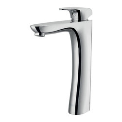 Vigo - Vigo Erasma Chrome Finish Vessel Faucet - Vigo Erasma Vessel Faucet is a distinguished choice for any bathroom. This solid-brass fixture features a small, single lever and a chrome finish.