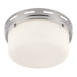 Murray Feiss - Murray Feiss Manning Transitional Flush Mount Ceiling Light X-NP583MF - The Manning Collection of flushmounts features a deep, broad shade surrounded by a nautically-inspired ring with an open slot detail. Available in three sizes and four finishes.