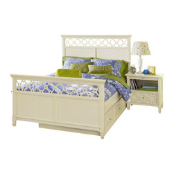 Magnussen - Magnussen Cameron Panel Bed with Trundle in White - Magnussen - Kids Beds - Y1816XXXTMKIT - Enjoy absolute relaxation with the Cameron Twin Panel Bed. Designed to add a stylish touch to your contemporary decor the bed features a pristine white shade. The sturdy bed features heavy duty dowel connectors for stability and safety.