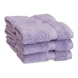 Luxurious Egyptian Cotton 900 Gram 6-Piece Purple Face Towel Set - Luxurious Egyptian Cotton 900GSM 6pc Purple Face Towel Set