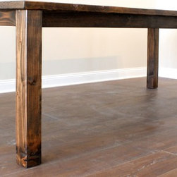 Bedford Table - The Halfway House is between Dallas and Fort Worth and its owner became the founder of Bedford. This simple, solidly built table could have come from such a place, hosting hundreds of travelers stopping to rest.