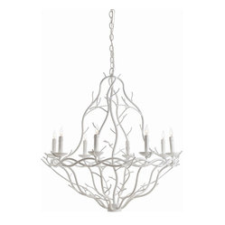Durango White Chandelier, Small