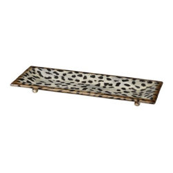 Uttermost - Uttermost Malawi Burnished Cheetah Print Ceramic Tray - Burnished cheetah print over a ceramic base.