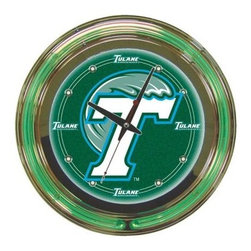 Trademark Global - Trademark Global 14 in. Tulane University Neon Wall Clock CLC1400-TUL - Shop for Wall Decor at The Home Depot. This Officially Licensed NCAA Neon Clock is a great wall display for your team. This is a very high quality double neon clock with raised bubble acrylic front cover. This clock makes a great room addition for any sports fan.