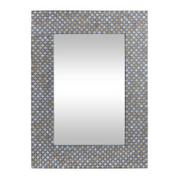 Ren-Wil - Charleston Mirror - 23W x 31H in. Multicolor - MT1449 - Shop for Mirrors from Hayneedle.com! Beige light orange and silver-gray tones create eye-catching contrast in the decorative frame of the Charleston Mirror 23W x 31H in.. This mirror s mosaic honeycomb pattern gives a lively edge to its rectangular mirror which is suitable for both horizontal and vertical hanging.About Ren-WilFor over 45 years Ren-Wil has been creating quality wall decor mirrors and lighting that enhances any space. The company's talented team of in-house artists travels the world to find the newest materials fashions and trends and then applies them to their work. The team also uses multi-media designs for many of their pieces. Ren-Wil is the leader in Alternative Wall DEcor and is the market leader in Canada. They thrive on offering a fresh innovative product line and superior customer service.