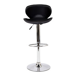 East End Imports - Booster Bar Stool Black - A great choice for folks who want a bar stool with the comfort of an ergonomic shape. The seat is as comfortable as the back is supportive and the winged design makes this stool stand apart from the rest.