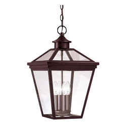 Savoy House - Savoy House 5-145-13 Ellijay Hanging Lantern - An eye-catching four-sided, clear glass top collection, perfect for the cottage looks of today. finished in English Bronze with Clear glass on the hood and an open bottom, Ellijay is an outstanding family providing high style at an unbelievable price.