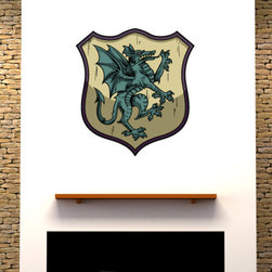 Family Crest Vinyl Wall Decal FamilyCrestUScolor006; 72 in. - Vinyl Wall Decals are an awesome way to bring a room to life!