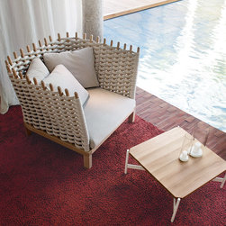 Wabi Chair - While I adore the classic boldly colored Paola Lenti pieces, I also love this neutral macrame chair. It's so chic!