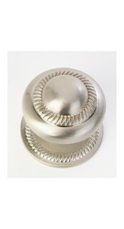 Q.M.I. - Decorative Roped Knob in Satin Nickel (Set of 10) - Includes mounting screws and backplate. Easy to install. Limited lifetime warranty. Made from zinc. 1 Dia. x 1.75 in. HAdd the finishing touches to your new vanity or cabinets or instantly update the look of your room with this hardware. Our cabinet knobs beautifully compliment any homes decor.